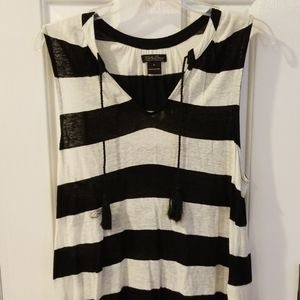 Lucky Brand black & white tank top M
